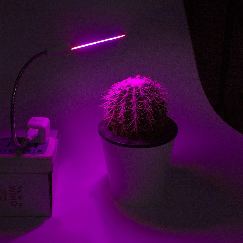 Amazon.com: USB LED luz de crecimiento UV IR USB DC 5 V 3 W ...