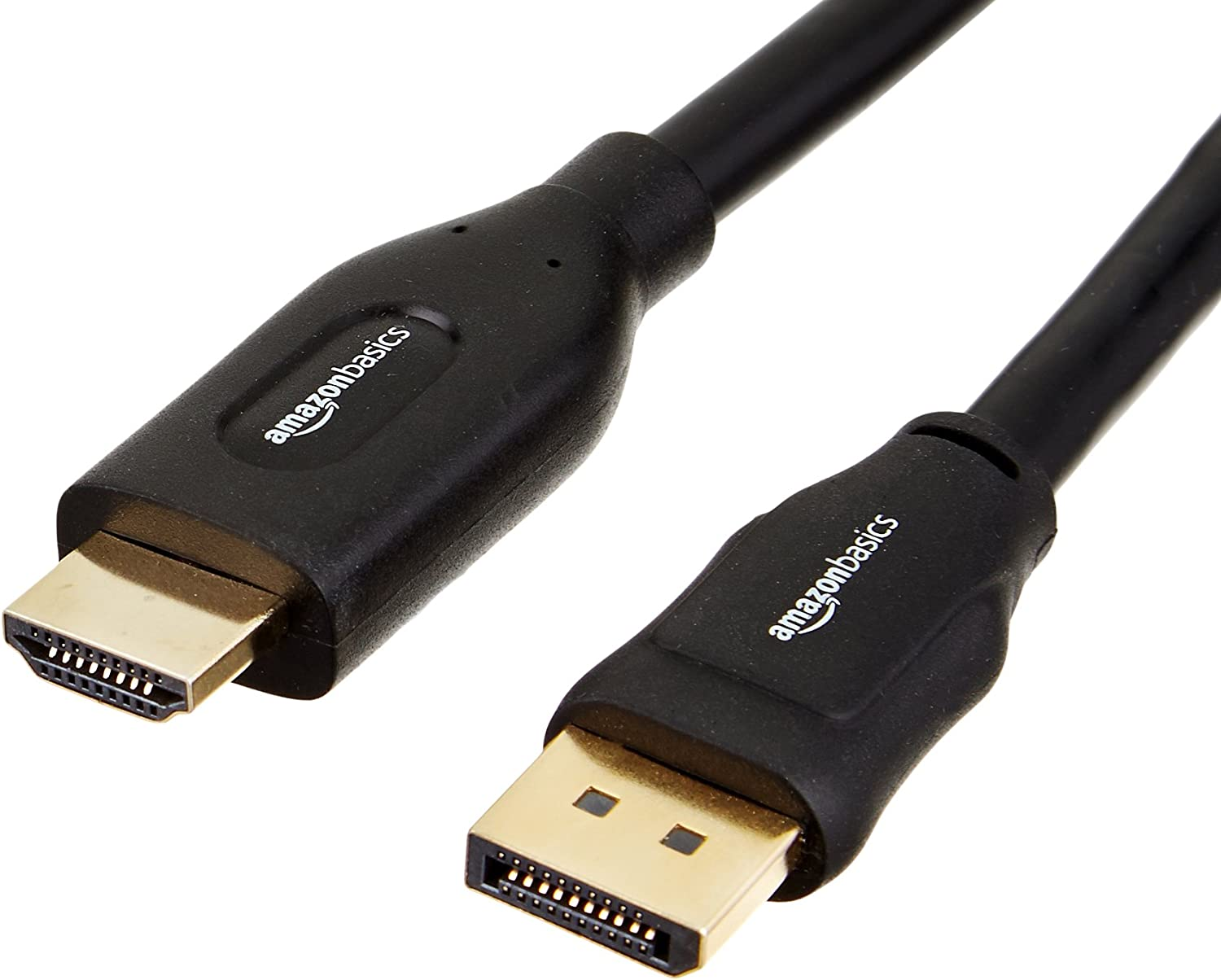 AmazonBasics DisplayPort to HDMI Display Adapter Cable - 25 Feet, 5-Pack
