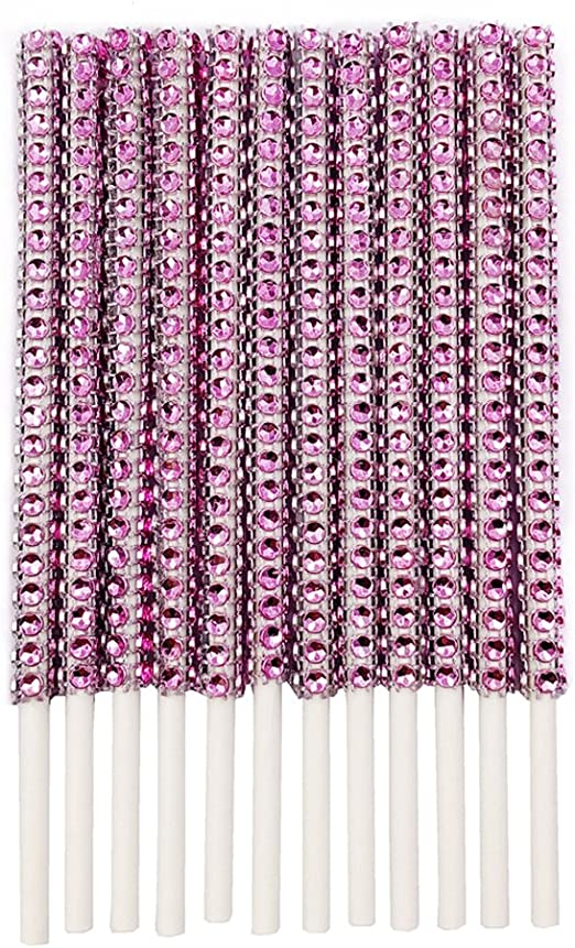 Rhinestone Bling Paper Sticks for Lollipop Cake Pop Apple Candy Buffet Treat Party Favor 6 inch Gold, 72