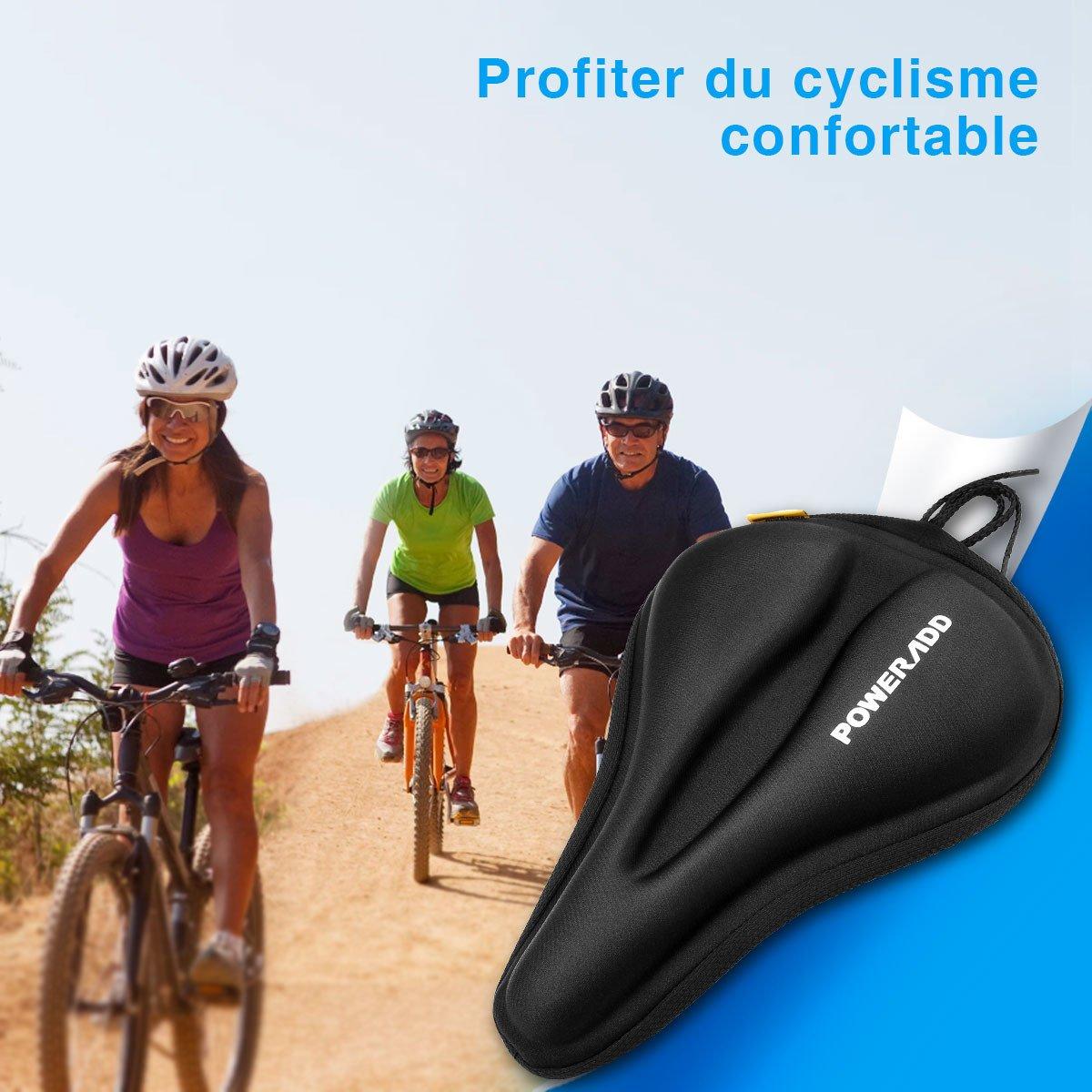 Poweradd Coussin d'assise de VTT housse siège de vélo montagne avec conception creux respirable la plus confortable pour le cyclisme