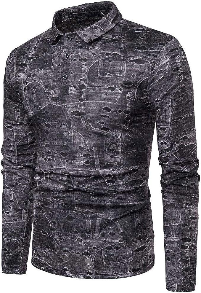 Camisa de Hombre, Internet_Camisa de Manga Larga con Cuello ...
