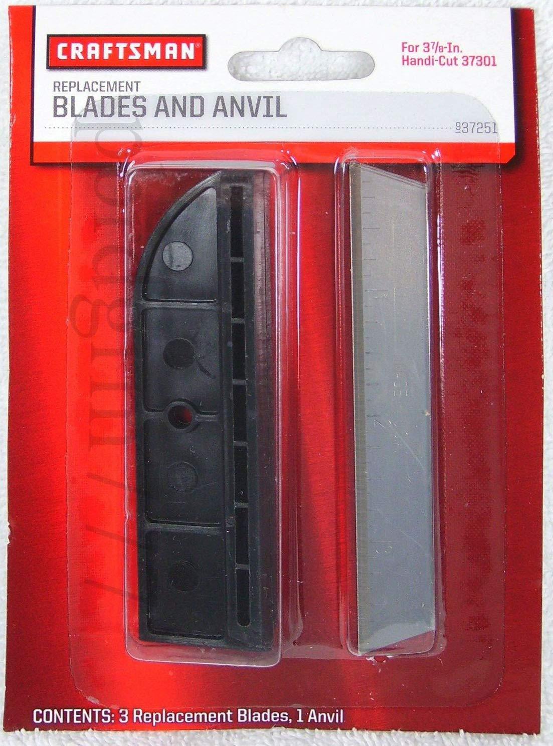3 7/8`` Craftsman Handi-Cut (3) Blades & (1) Anvil 37301 & 37201 9-37251 New OEM __#pbrdgrm777 by Craftsman