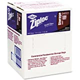 Ziploc Double Zipper Quart Size Plastic Storage Bags, 500/Carton (DRA94601)
