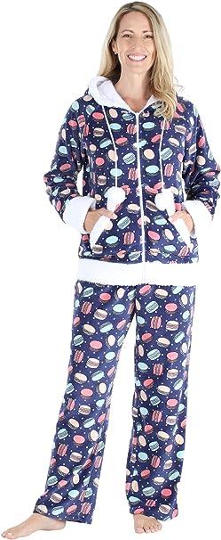 da donna Pantaloni da pigiama in pile