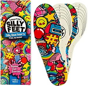 Silly Feet Kids Insoles | Child Replacement Insole Shoe Sole Inserts for Children 2 Pairs