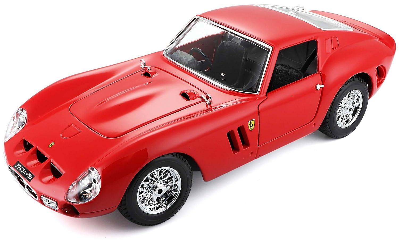 Bburago 15616602 – 1: 18 Original Ferrari 250 GTO, vehículos, Color Rojo