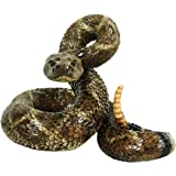 Western Diamondback Rattlesnake L by Michael Carr Designs - Outdoor Snake Figurine for gardens, patios and lawns (80057)