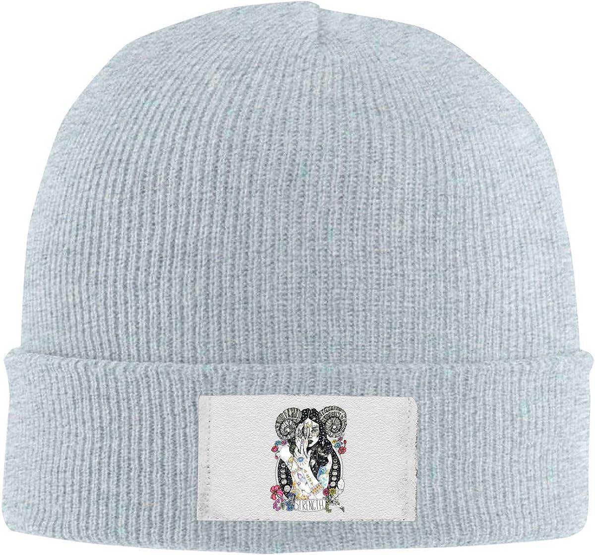 Stretchy Cuff Beanie Hat Black Dunpaiaa Skull Caps Strength Beaty Winter Warm Knit Hats