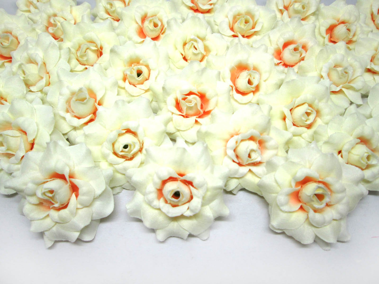 100-Silk-Cream-White-Roses-Flower-Head-175-Artificial-Flowers-Heads-Fabric-Floral-Supplies-Wholesale-Lot-for-Wedding-Flowers-Accessories-Make-Bridal-Hair-Clips-Headbands-Dress