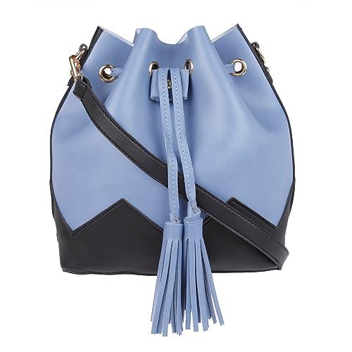 49e62f9d7780 Fur Jaden Blue Ladies Bucket Tote Handbag for Woman  Amazon.in  Shoes    Handbags