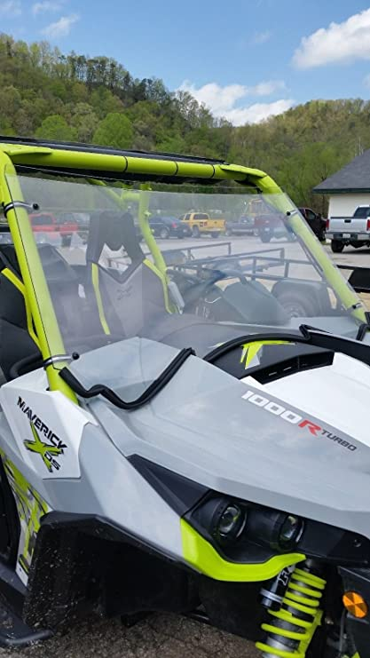 Amazon.com: Can Am Maverick 1000,R,Turbo Full Front Clear Windshield...A Full 1/4