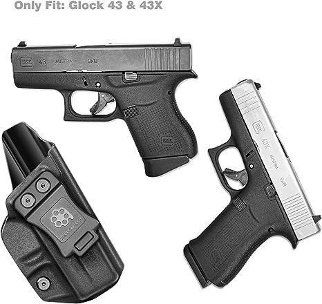 Vioaplem Dentro De La Cintura PDI Kydex Funda Personalizada For Glock 43 Gen 1-5 Encubierto Armas Pistola Caso Kydex Clip De La Correa Pistoleras Color : Left Hand