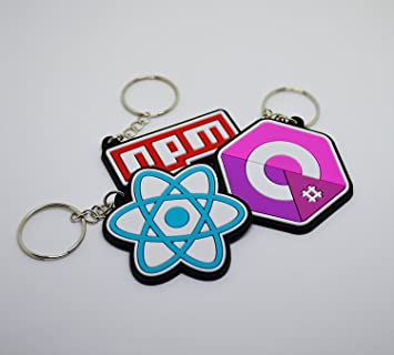 byteSwag Developer NPM C Sharp React Keychains Pack from for Software Developers, Engineers, Hackers, Programmers, Geeks, and Coders.