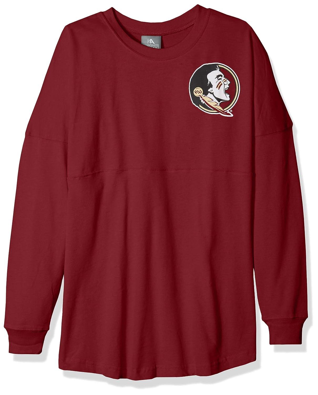 NCAA Florida State Seminoles Womens NCAA Womens Long Sleeve Mascot Style Teeknights Apparel NCAA Womens Long Sleeve Mascot Style Tee Garnet Small