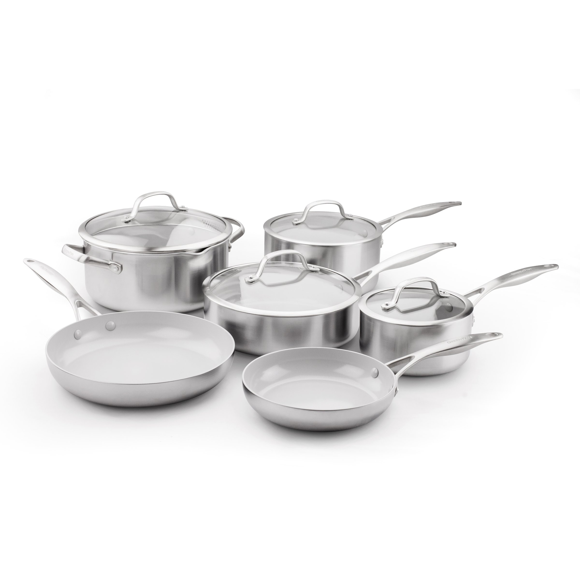 GreenPan Venice Pro Ceramic Non-Stick 10Pc Cookware Set by GreenPan (Image #1)