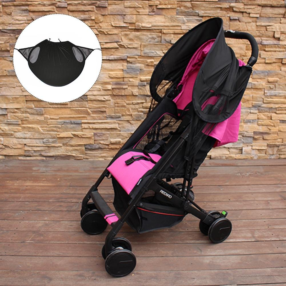 Universal Hood Sun Hood Canopy Pushchair Buggy Black Stroller Canopy Fabric Shade UV Baby Accessories Universal Sun Umbrella of Wind Shield