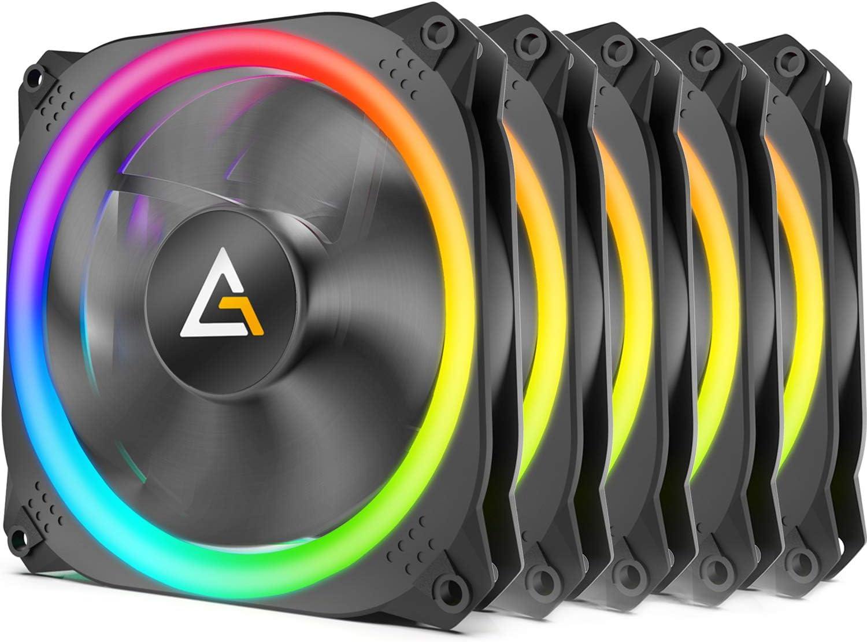 Antec Prizm 120 ARGB 5+C Ventilador de caja de 120 mm con controlador de ventilador, paquete 5 en 1