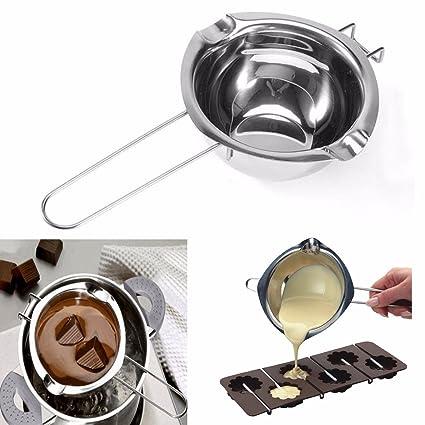 Janolia Caldera Chocolate, Caldera Mantequilla, Acero Inoxidable, Herramientas para Derretir Mantequilla, Queso