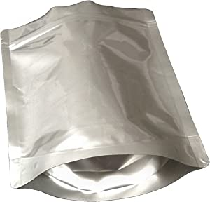 Pleasant Grove Farm 7 Mil Zip Lock Mylar Bags Stand Up Pouch Gusseted Pouch in Multiple Sizes (50, 1 QUART 7 x 10 inch)