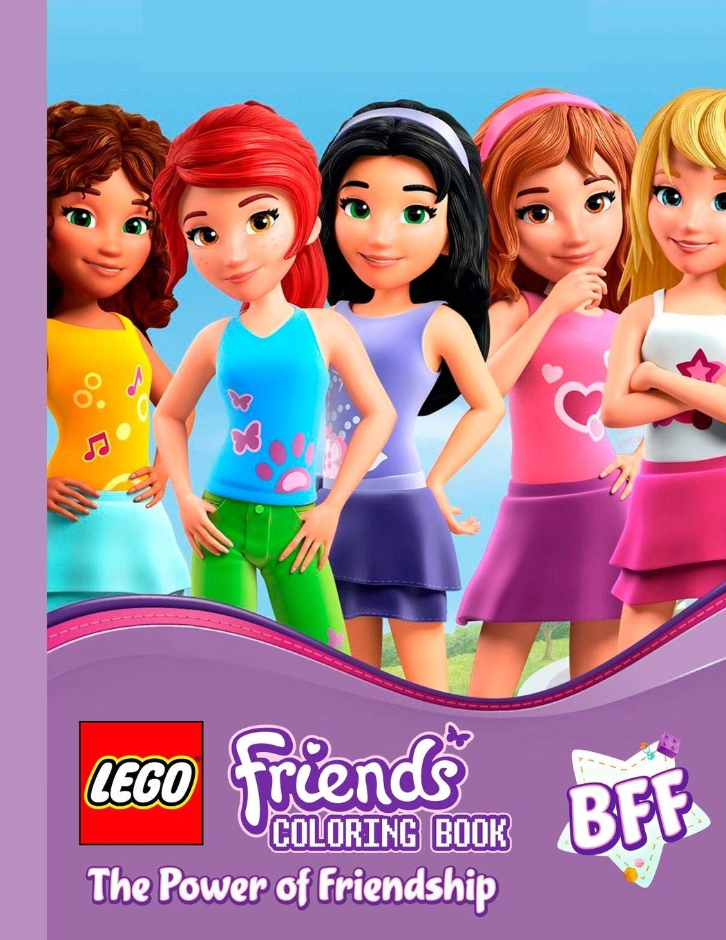 Lego Friends The Power Of Friendship Coloring Pages For