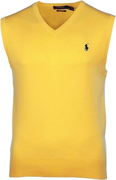 Ralph Lauren Polo Hombres de algodón Pima V Cuello Jersey Chaleco ...