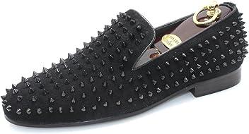55c0addf58c0 SMYTHE   DIGBY Men s Spiked Studded Black Leather Loafers