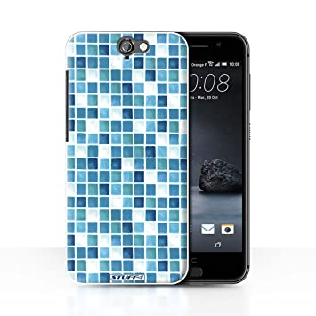 Stuff4 Hulle Case Fur Htc One A9 Blau Turkis Muster Bad