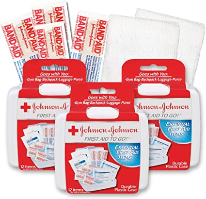 Amazon.com : Johnson & Johnson First First Aid Kit Travel Size ...