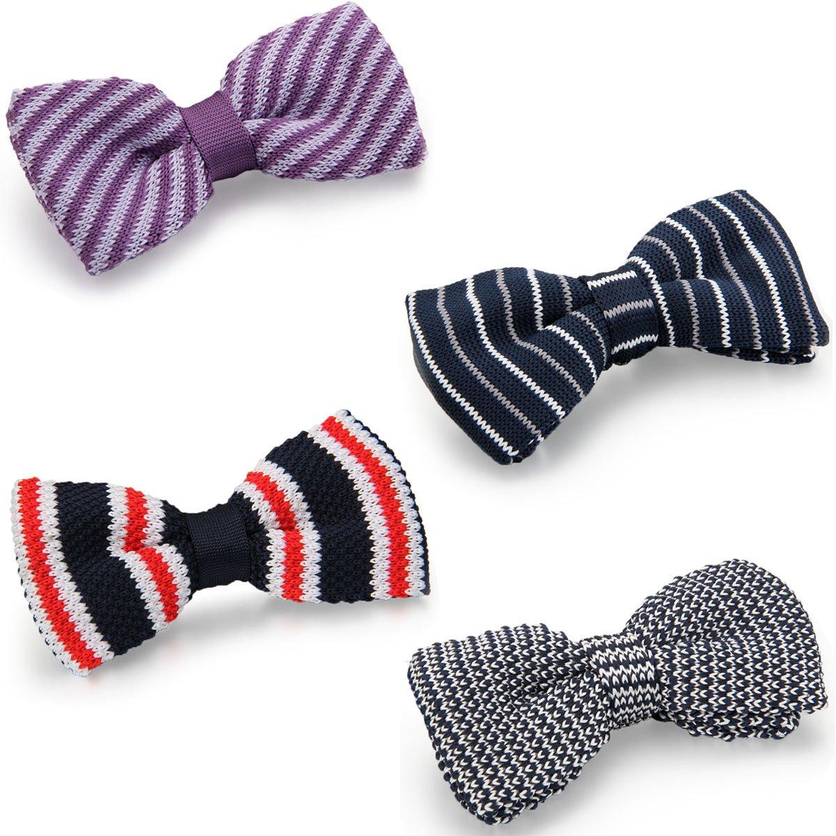 Aron Cent 4pcs Hombre mosca lazo corbata Binder corbata Horizontal ...