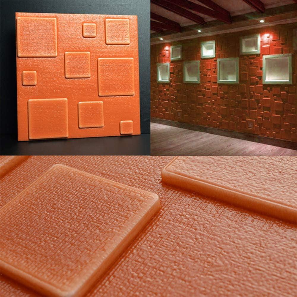 30 * 30cm 3D Mousse PE Papier Peint Lifemaison DIY Autocollant D/écoratif Auto-Adh/ésif Imperm/éable en Relief Brique en Pierre