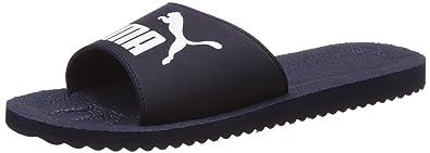 c94891c7da3b90 PUMA Purecat Unisex Adult Sandals Slippers 360262 02 Navy Peacoat