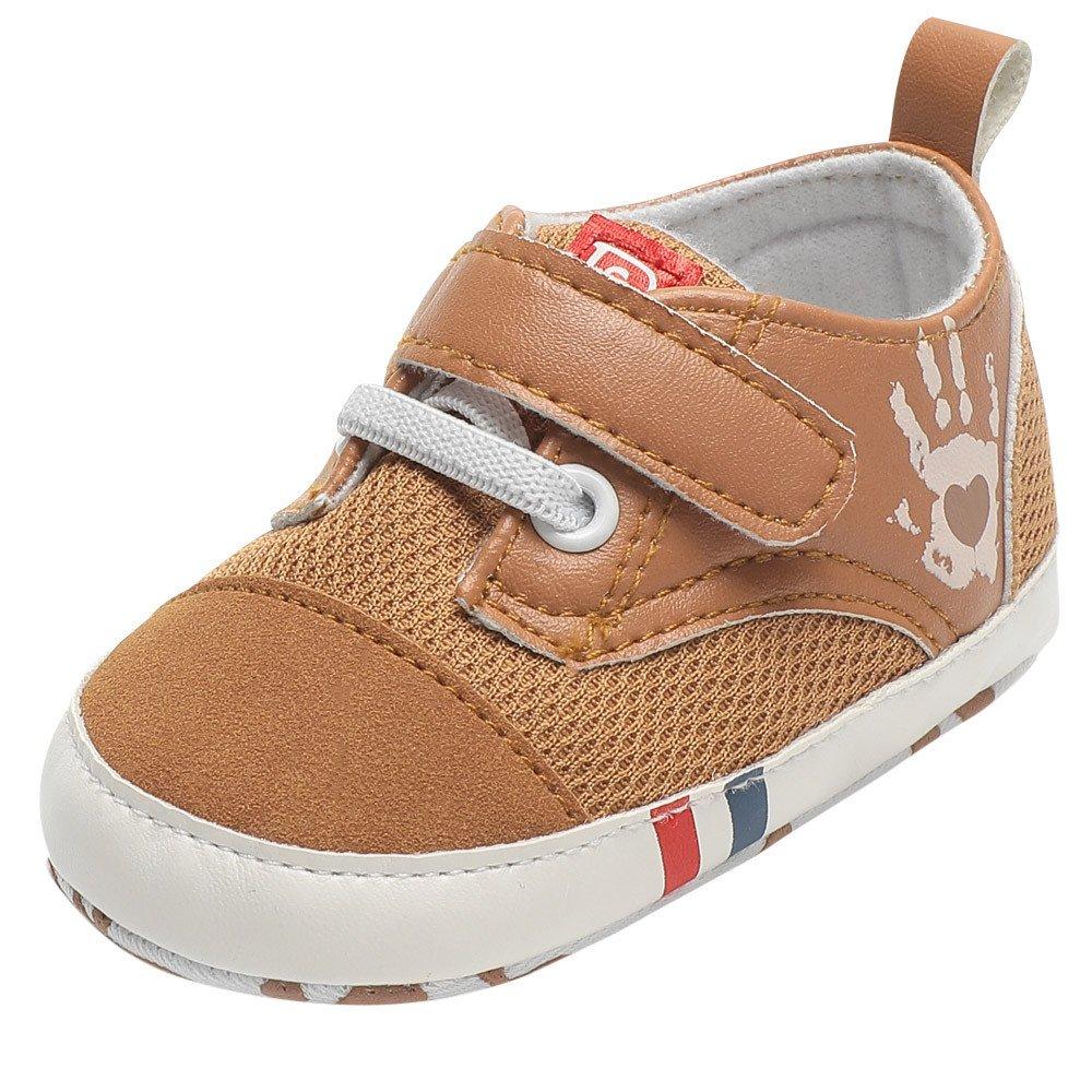 Lurryly Newborn Baby Boys Girls Shoes Palm Print Anti-Slip Footwear Crib Shoes 0-18 M