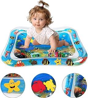Dycsin Tapete de PVC a Prueba de Fugas para Beb/és Baby Water Blanket Inflatable Carpet Centro de Actividades Divertidas para Ni/ños y Reci/én Nacidos 3 Meses Alfombra Inflable con Agua 100 * 80cm