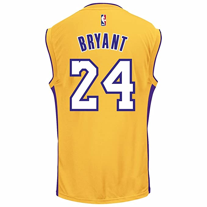 901bc392986 Amazon.com : OuterStuff Kobe Bryant Los Angeles Lakers #24 Youth Home  Jersey Gold : Sports & Outdoors