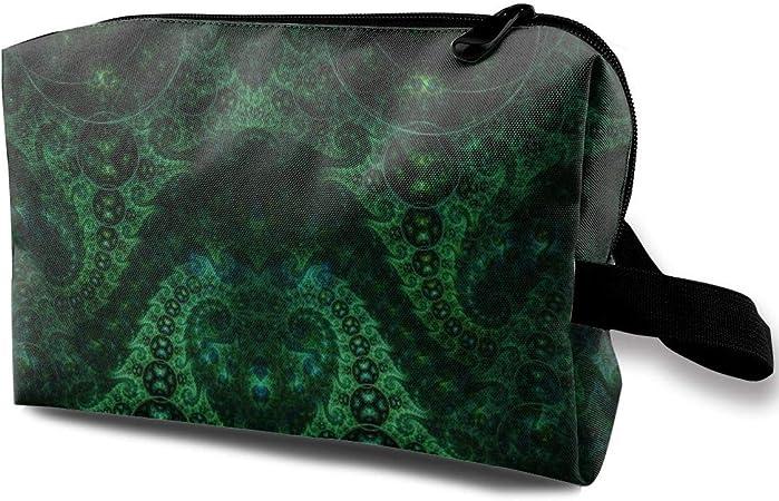 Antena fractal Linda bolsa de cosméticos verde portátil ...