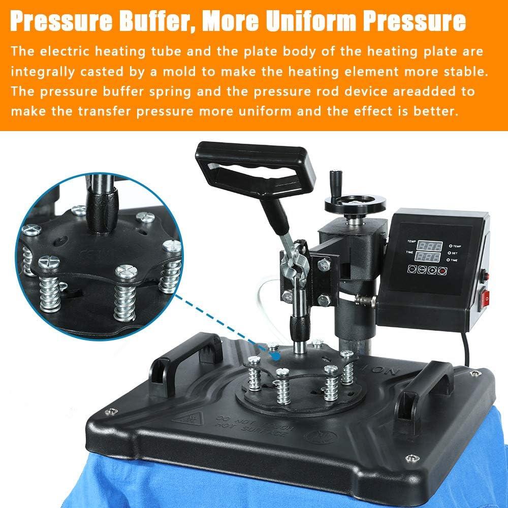 EOSAGA Heat Press 12/×15 Heat Press Machine 6 in 1 Digital Multifunctional Sublimation Swing Away Heat Press for T Shirts Hat Mug Cap Plate 6 in 1Swing Away 12x 15
