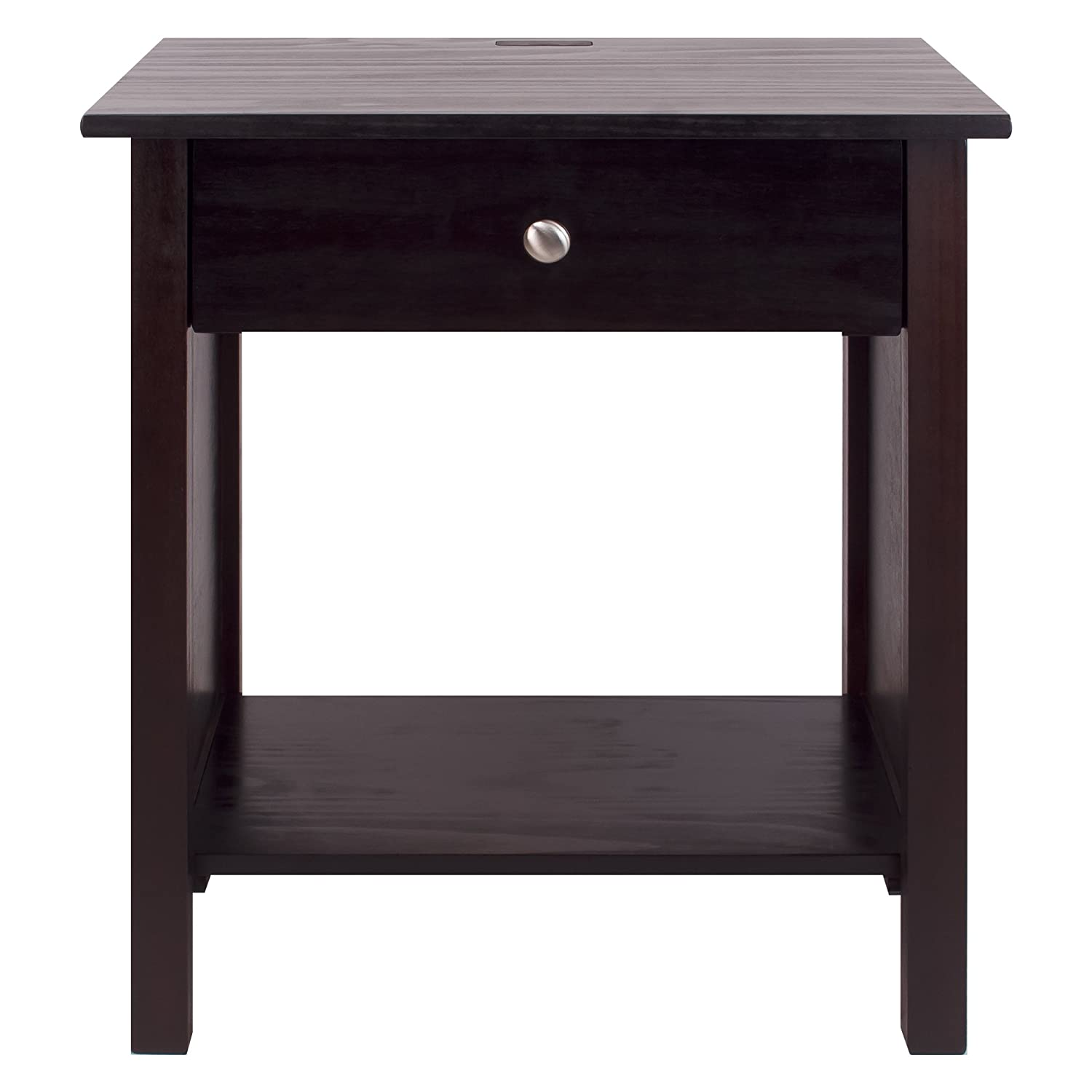 Amazoncom Casual Home 36023 Vanderbilt Nightstand with USB Ports