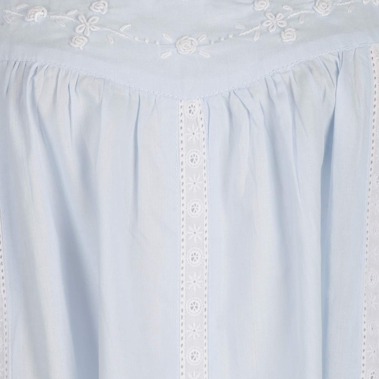 The1forU 100/% Cotton Donna Camicia da Notte Senza Maniche Tasche 7 Sizes Meghan