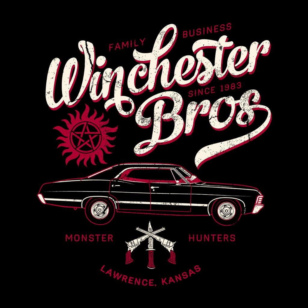Cloud City 7 Supernatural Winchester Bros Car Family Since 1983 Womens Vest