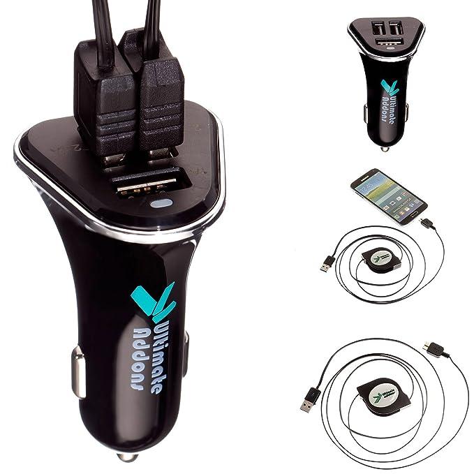 UltimateAddons - Triple USB 5,2 Amp rápido cargador de coche ...