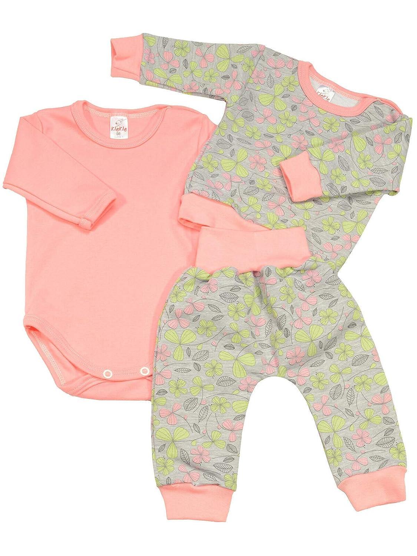 Baby Jungen Kleidungsset Geschenkset 3 tlg Langarm Body Hose Pullover 22835