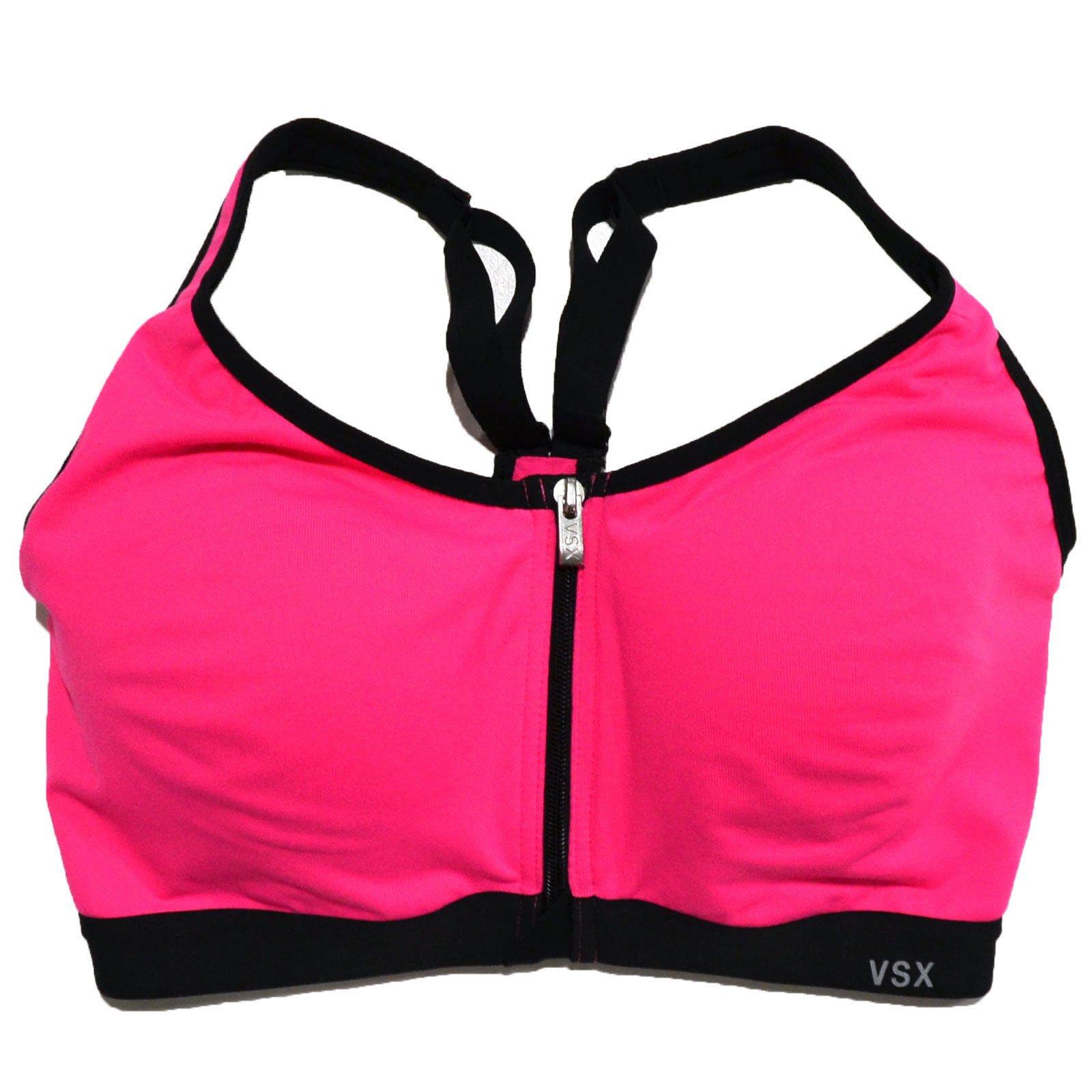 Victoria's Secret VSX Sports Bra Front Close Knockout (Hot Pink, 32C)