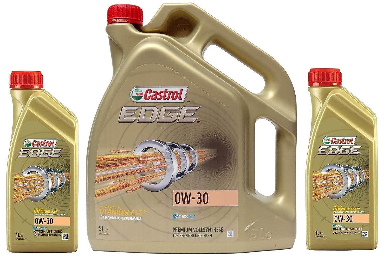 Lubricante Motor Castrol Edge 0W-30 Titanium FST, 7 litros (1x5 lt + 2x1 lt): Amazon.es: Coche y moto