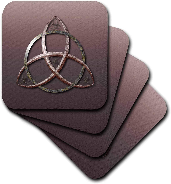 3dRose A stone textured triquetra Celtic trinity knot symbol. - Coasters (cst_333408_1)
