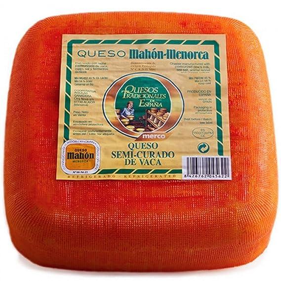 Queso de Vaca Semicurado Mahon-Menorca app. 2,6 kg - Merco ...