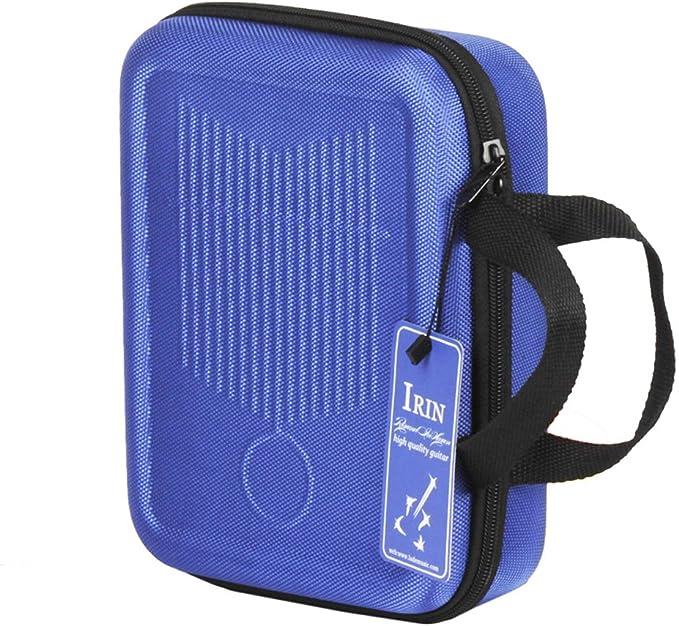 as described IRIN Lightweight Harmonica Case Kalimba Rain Shockproof Box Carry Bag Blue