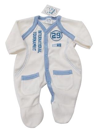 8cdc87f10 BNWT Tiny Baby boy Premature Preemie Baby white   blue sporty ...