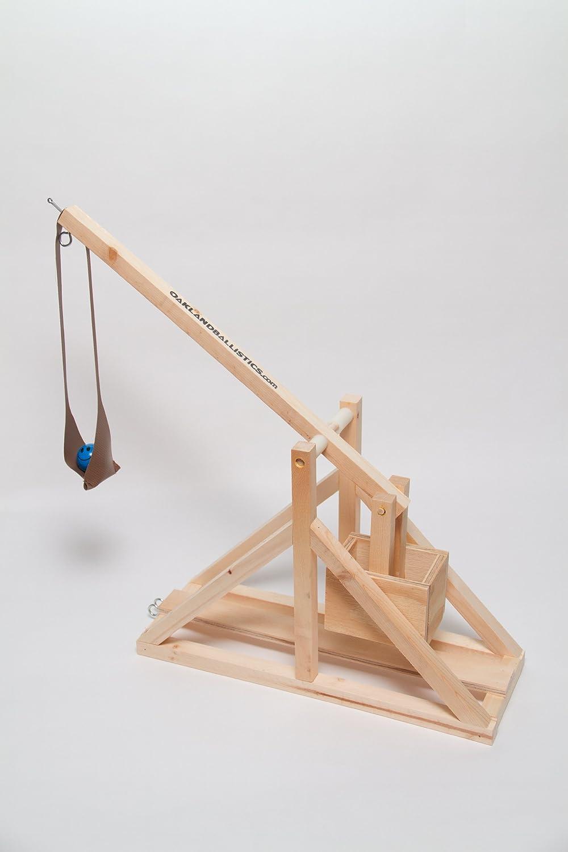 amazon com wooden trebuchet kit by oakland ballistics toys u0026 games