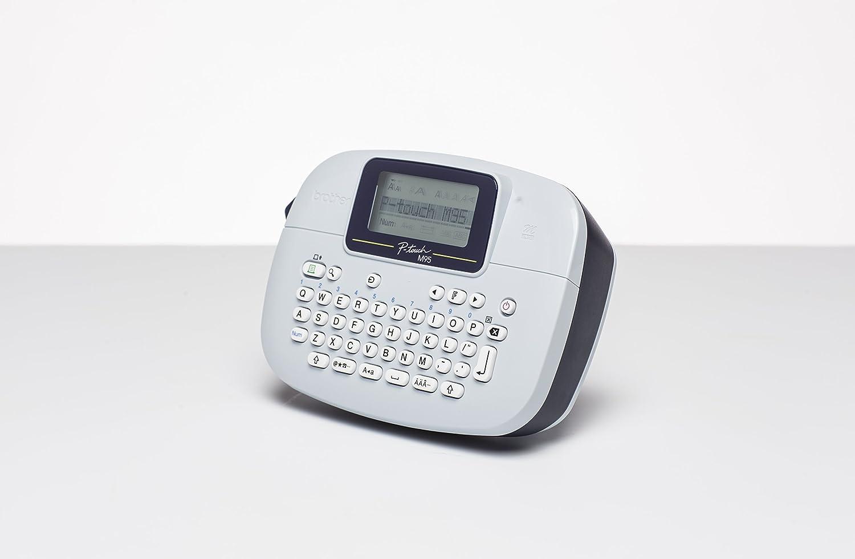 Extra Original MK221SBZ Black Text On White Plastic Tape Brother PTM95 Handheld Labelling Machine 9mm x 4m