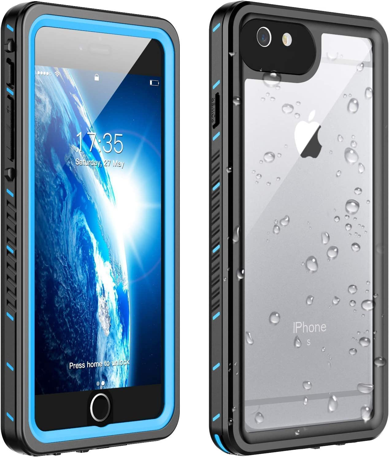 Huakay iPhone 6s Plus Waterproof Case iPhone 6 Plus Waterproof Case, Shockproof Dirtproof 360° Full Body Protection Waterproof for iPhone 6s Plus/iPhone 6 Plus